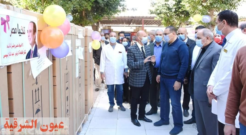 صندوق تحيا مصر يدعم محافظة الشرقية بعدد 46 ماكينة و 15 كرسي للغسيل الكلوي لمرضى الأمراض الكلوية